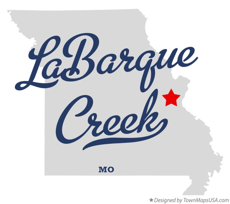 Map of LaBarque Creek Missouri MO