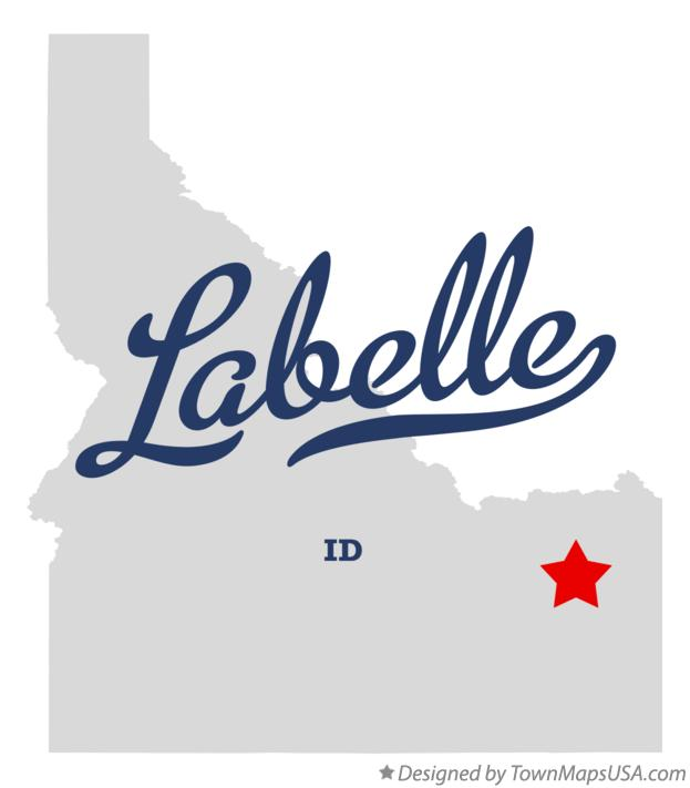 Map of Labelle Idaho ID