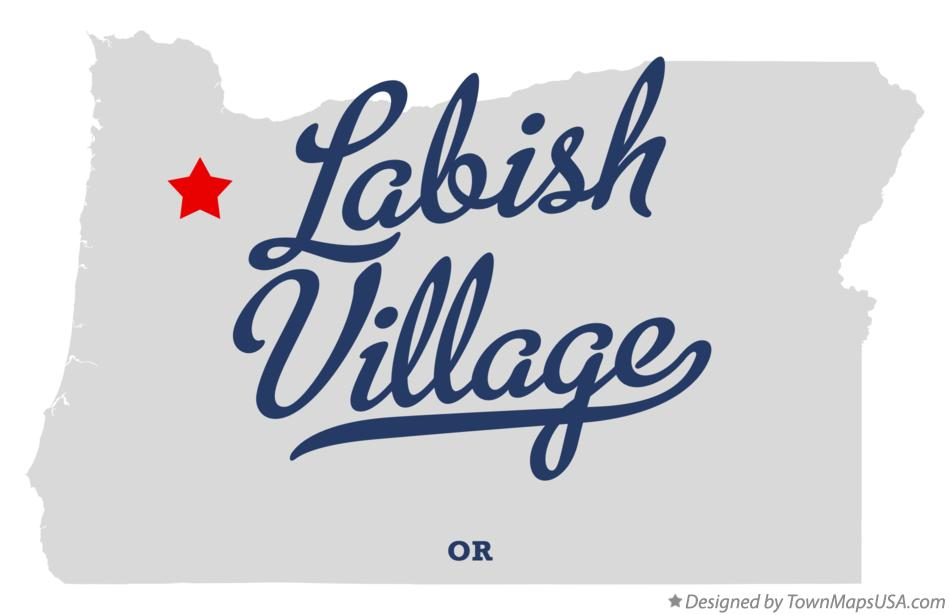 Map of Labish Village Oregon OR