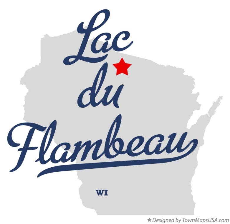 Map of Lac du Flambeau Wisconsin WI