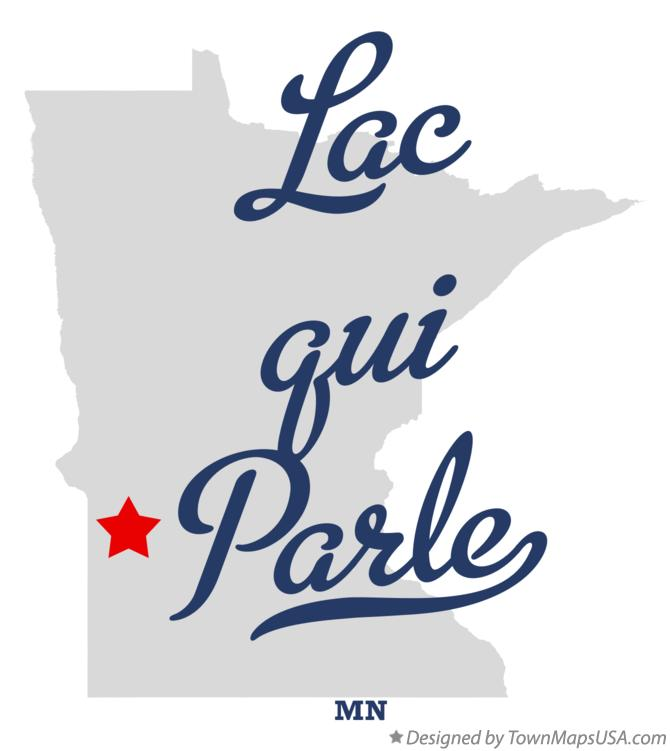 Map of Lac qui Parle Minnesota MN
