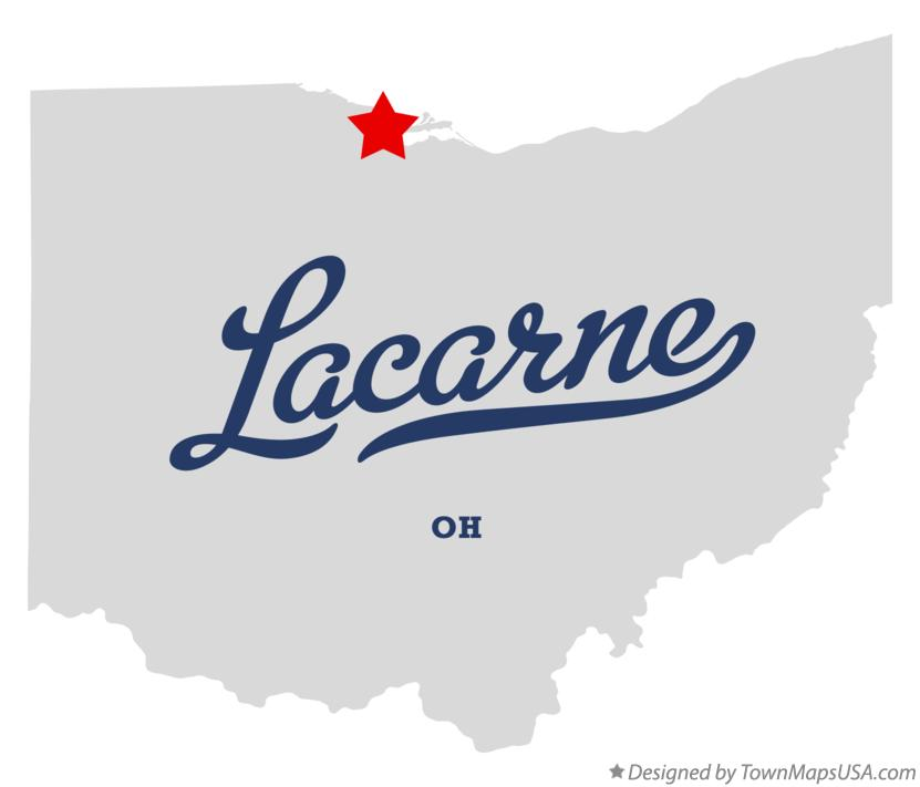 Map of Lacarne Ohio OH