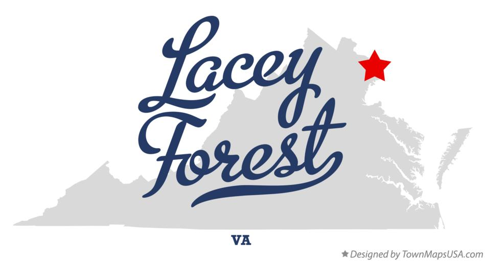 Map of Lacey Forest Virginia VA