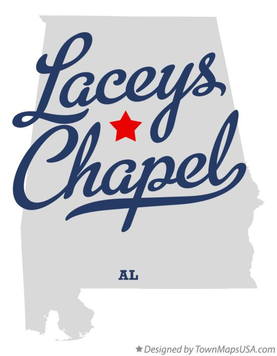 Map of Laceys Chapel Alabama AL