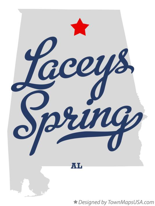 Map of Laceys Spring Alabama AL
