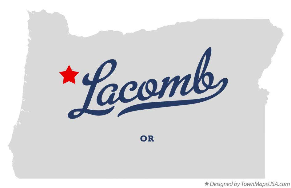 Map of Lacomb Oregon OR