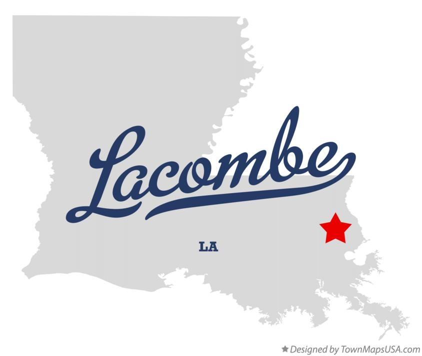 Map of Lacombe Louisiana LA