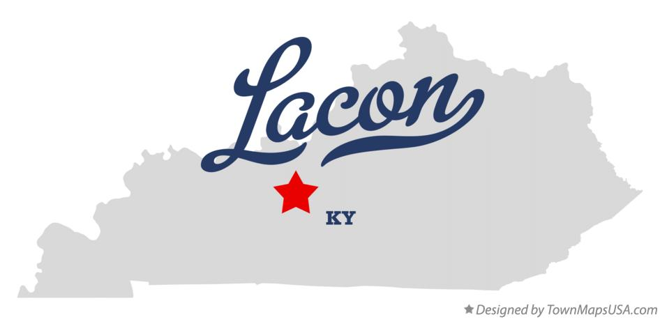 Map of Lacon Kentucky KY