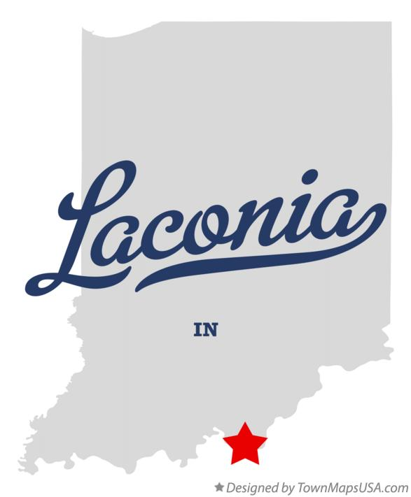 Map of Laconia Indiana IN