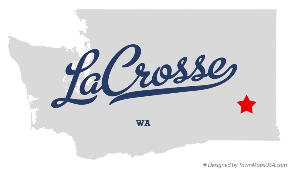 Map of LaCrosse Washington WA