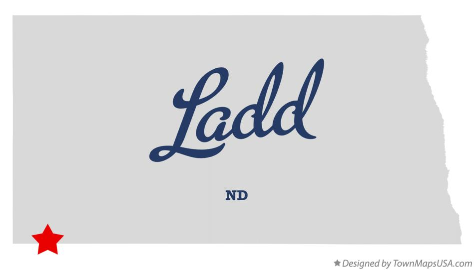 Map of Ladd North Dakota ND