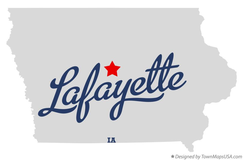 Map of Lafayette Iowa IA