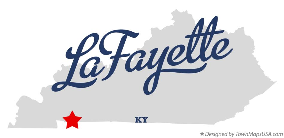Map of LaFayette Kentucky KY
