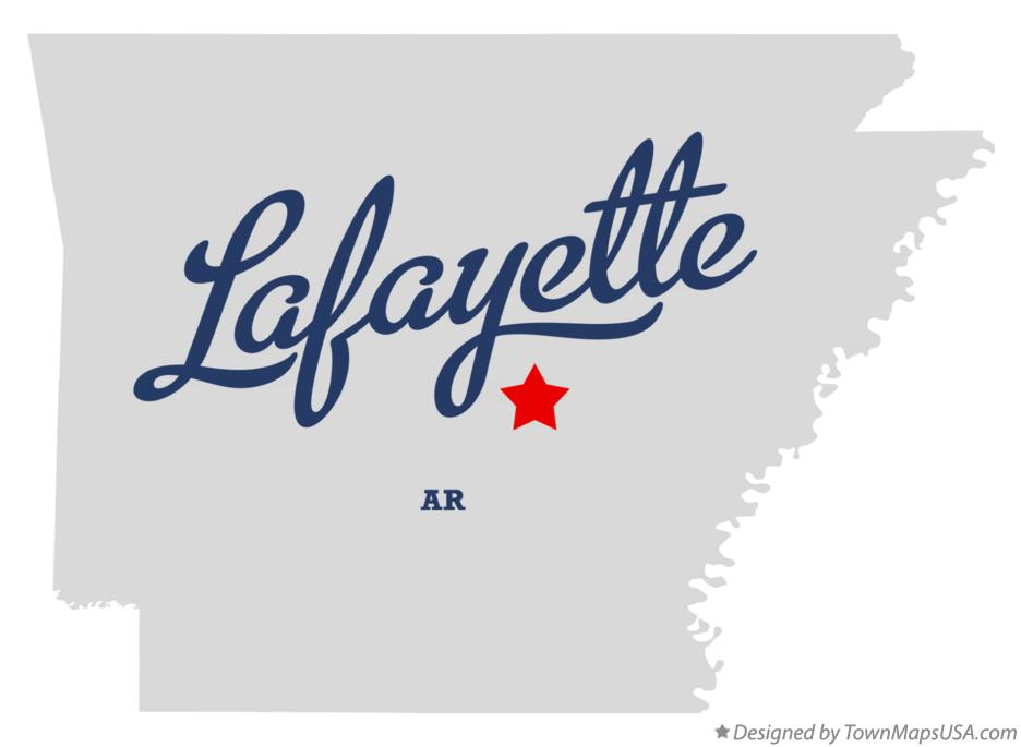 Map of Lafayette Arkansas AR