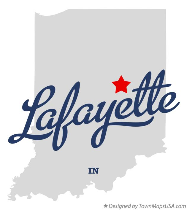 Map of Lafayette Indiana IN
