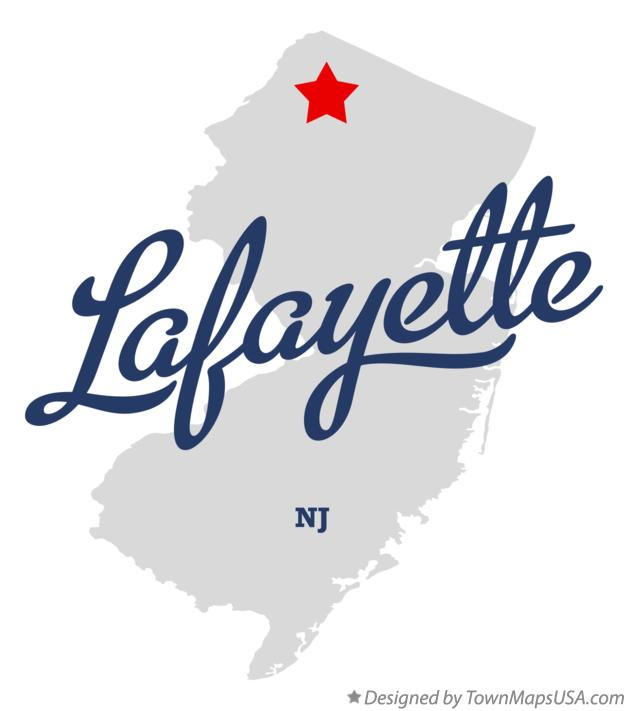 Map of Lafayette New Jersey NJ