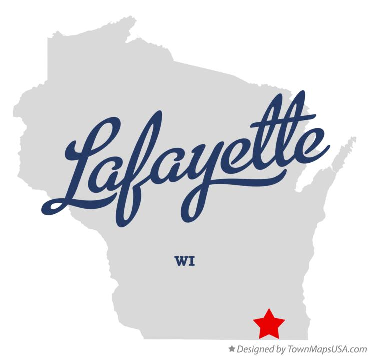 Map of Lafayette Wisconsin WI