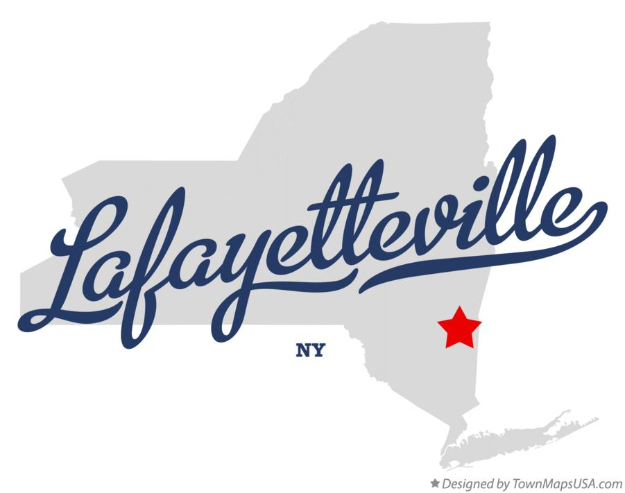 Map of Lafayetteville New York NY