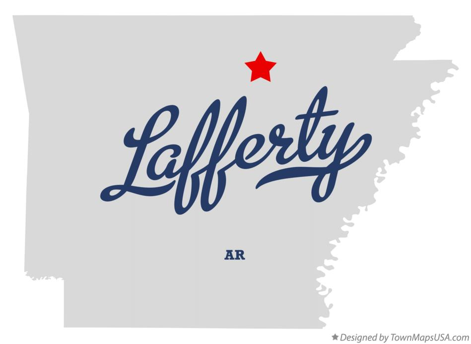 Map of Lafferty Arkansas AR