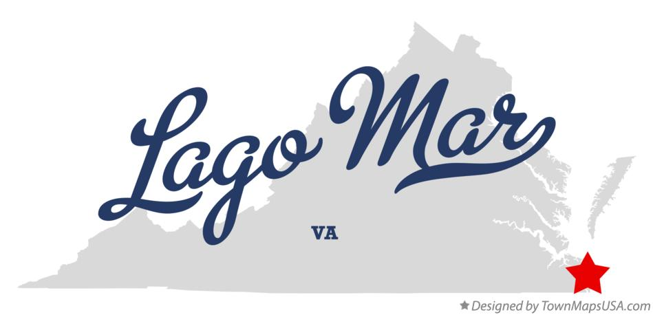 Map of Lago Mar Virginia VA