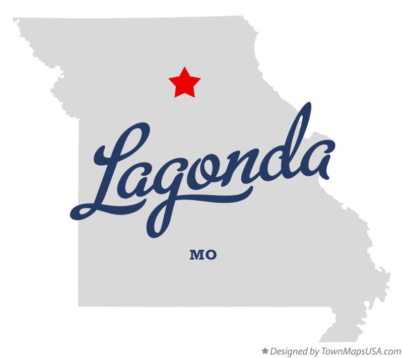 Map of Lagonda Missouri MO