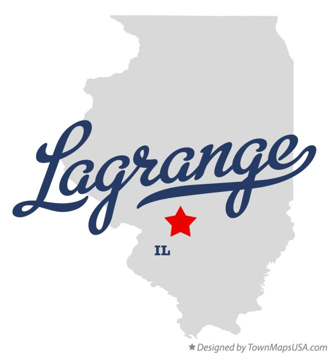 Map of Lagrange Illinois IL