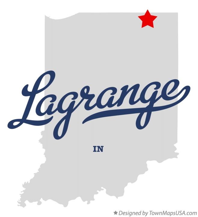 Map of Lagrange Indiana IN