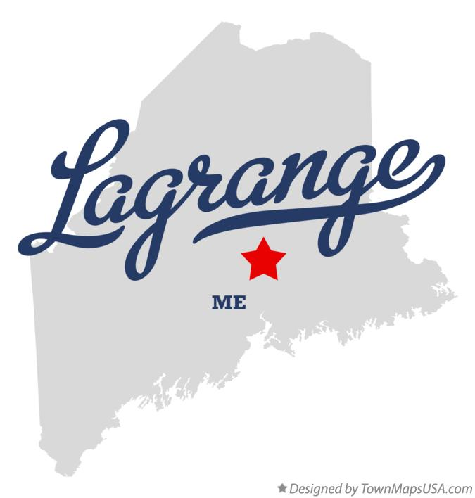 Map of Lagrange Maine ME