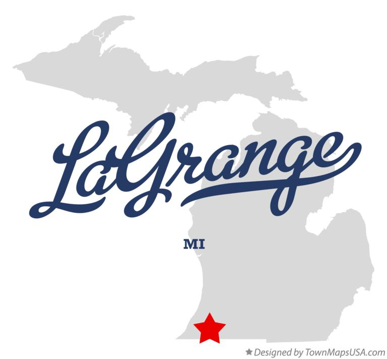 Map of LaGrange Michigan MI