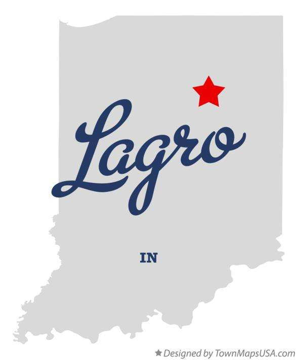 Map of Lagro Indiana IN