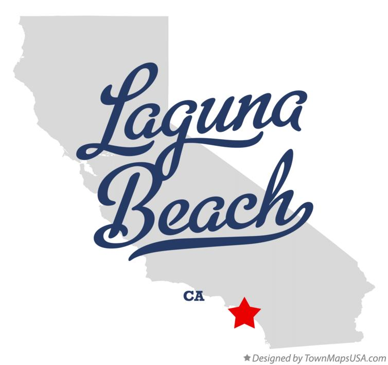 Map of Laguna Beach California CA