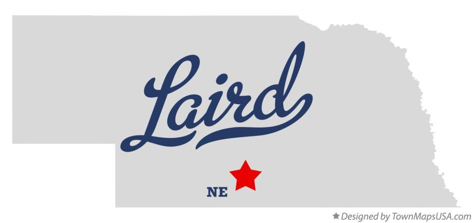 Map of Laird Nebraska NE