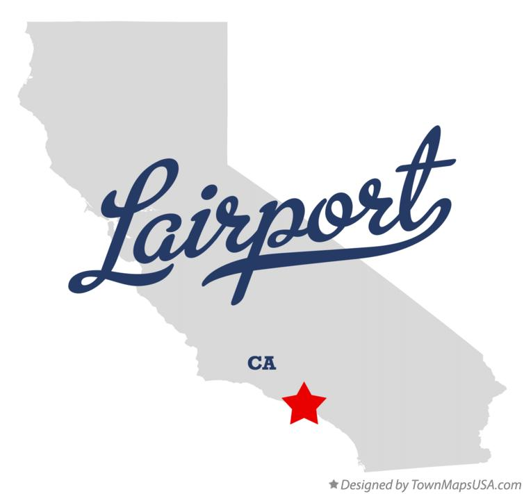 Map of Lairport California CA
