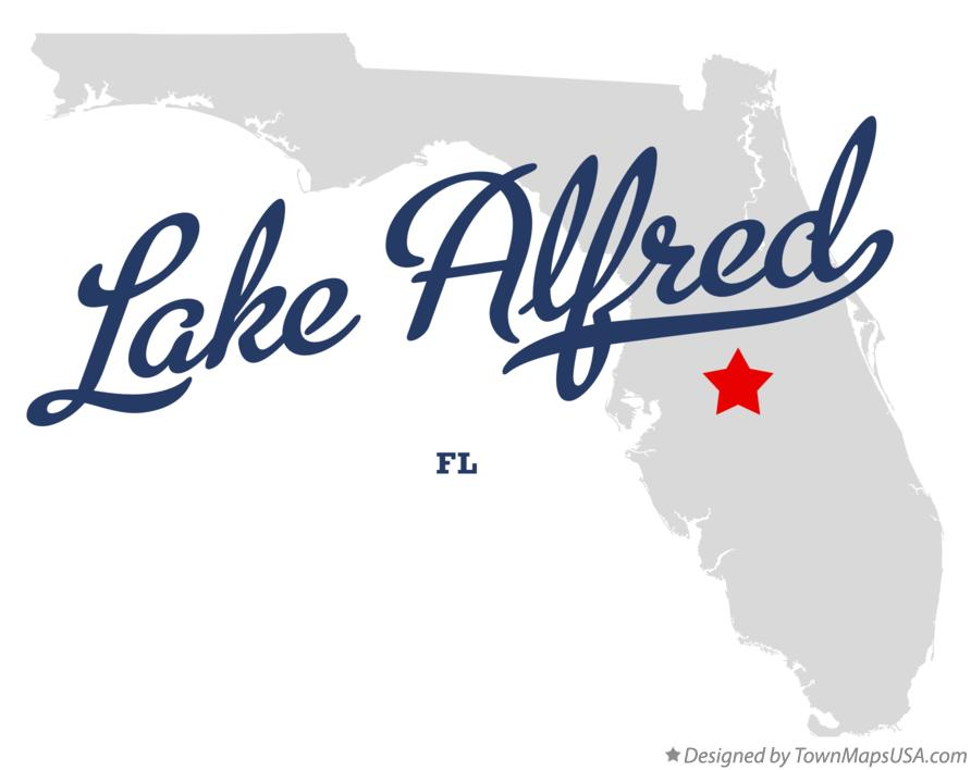 Map of Lake Alfred Florida FL