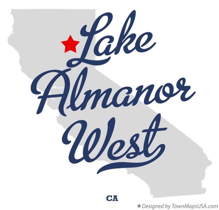 Map of Lake Almanor West California CA