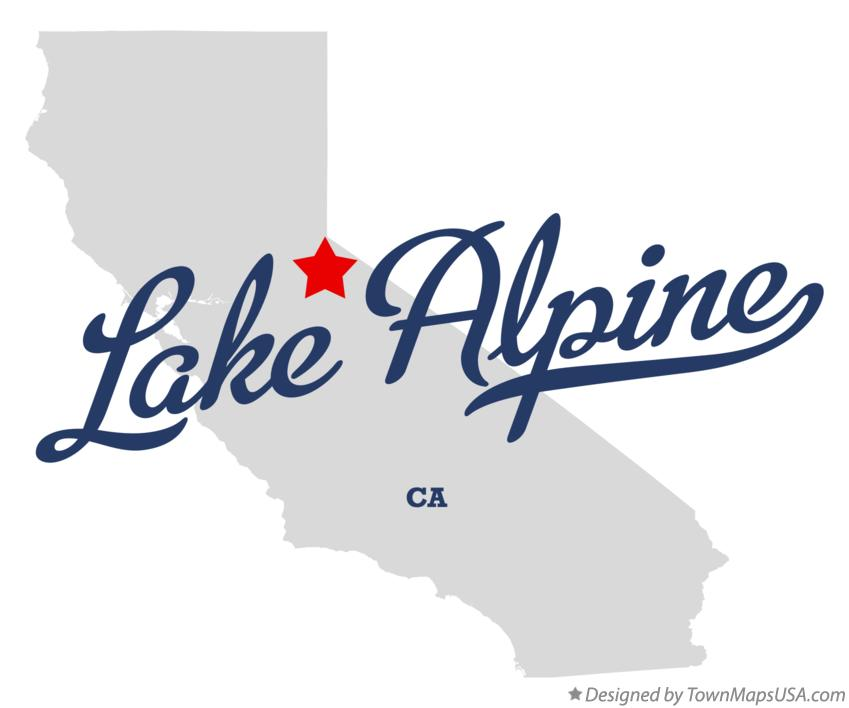 Map of Lake Alpine California CA