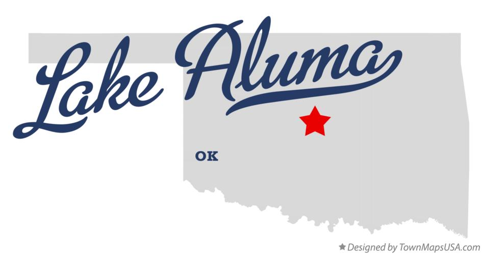 Map of Lake Aluma Oklahoma OK