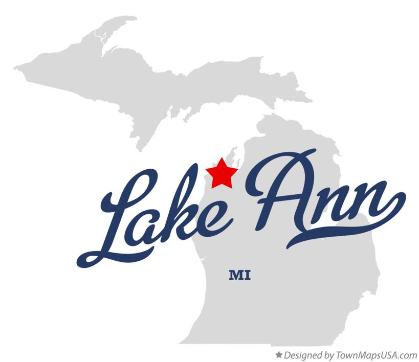 Map of Lake Ann Michigan MI