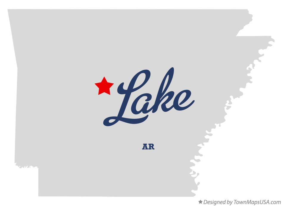 Map of Lake Arkansas AR