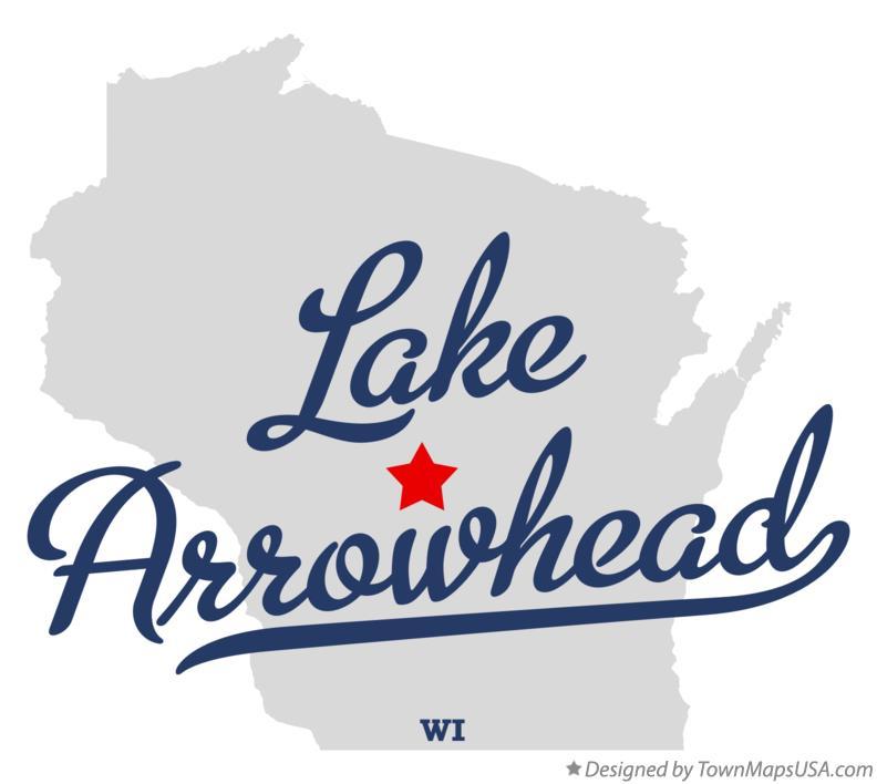 Map of Lake Arrowhead Wisconsin WI