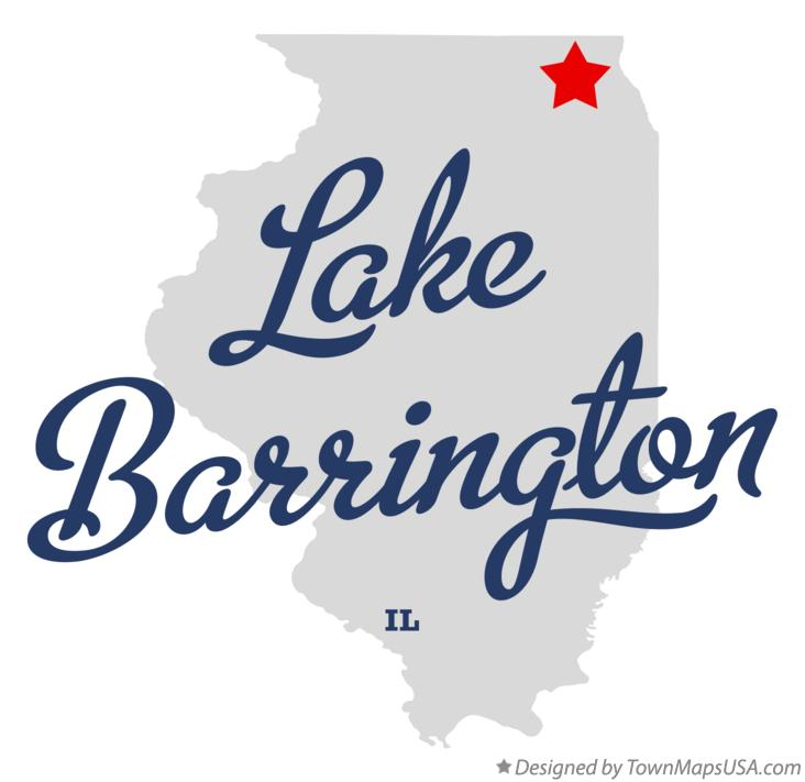 Map of Lake Barrington Illinois IL