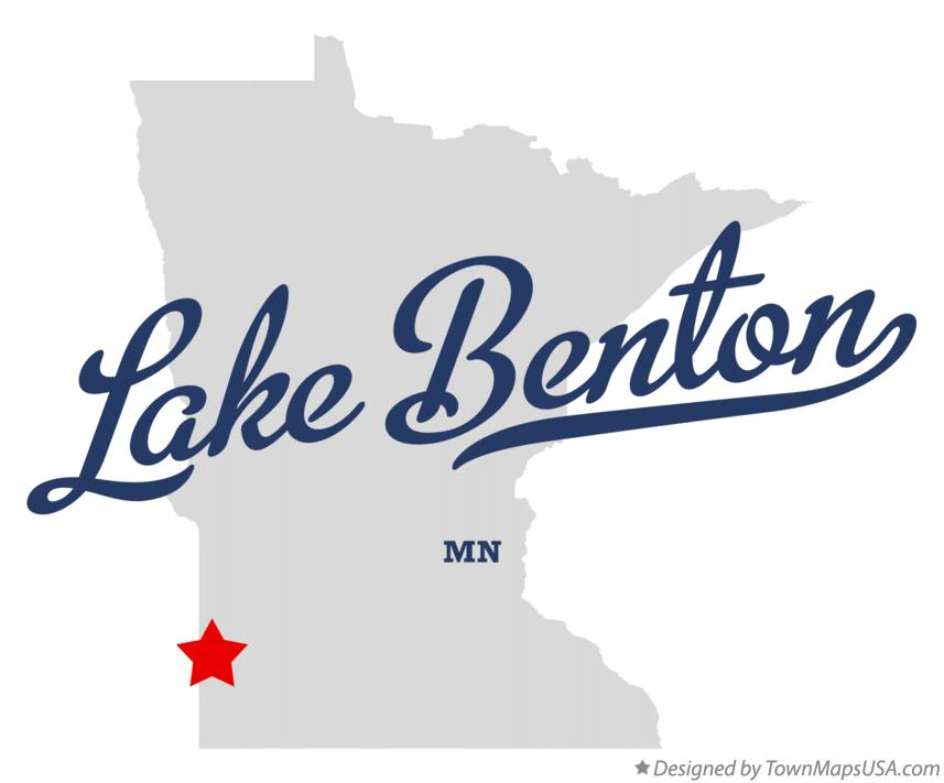 Map of Lake Benton Minnesota MN