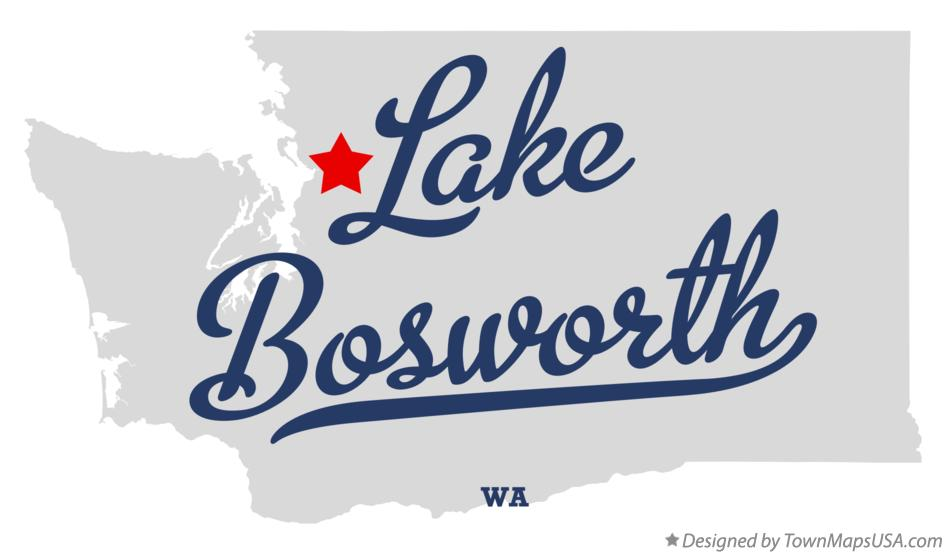 Map of Lake Bosworth Washington WA