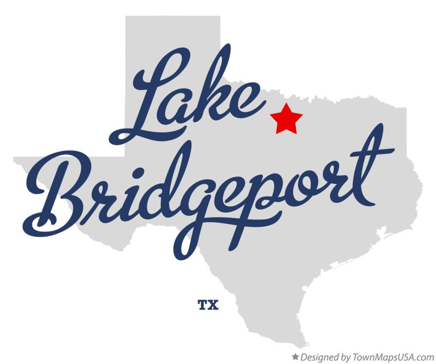 Map of Lake Bridgeport Texas TX