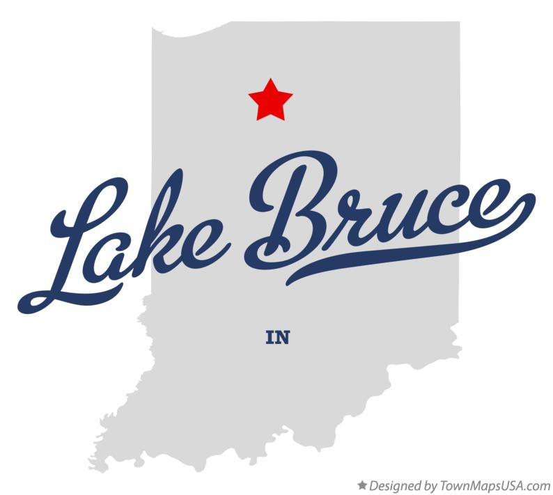 Map of Lake Bruce Indiana IN
