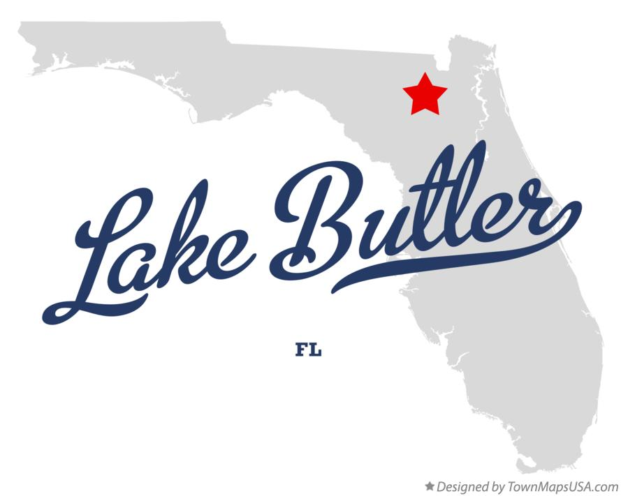 Map of Lake Butler Florida FL