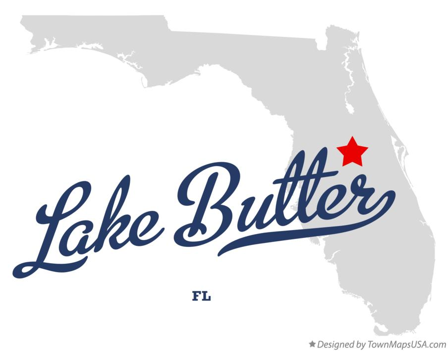 Map of Lake Butter Florida FL