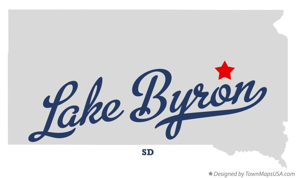 Map of Lake Byron South Dakota SD
