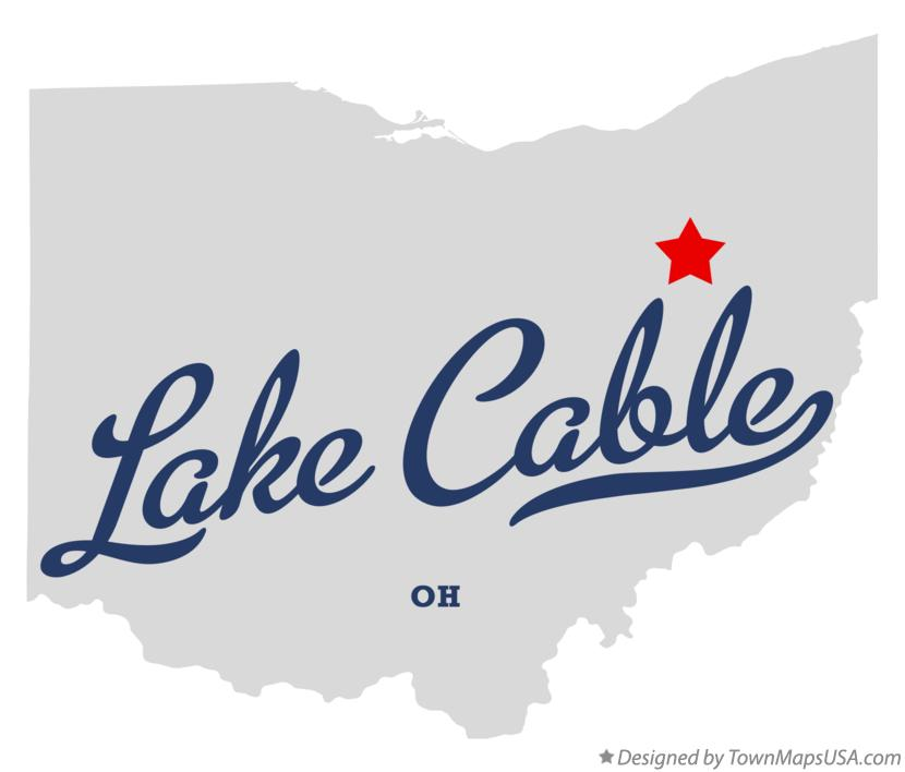 Map of Lake Cable Ohio OH