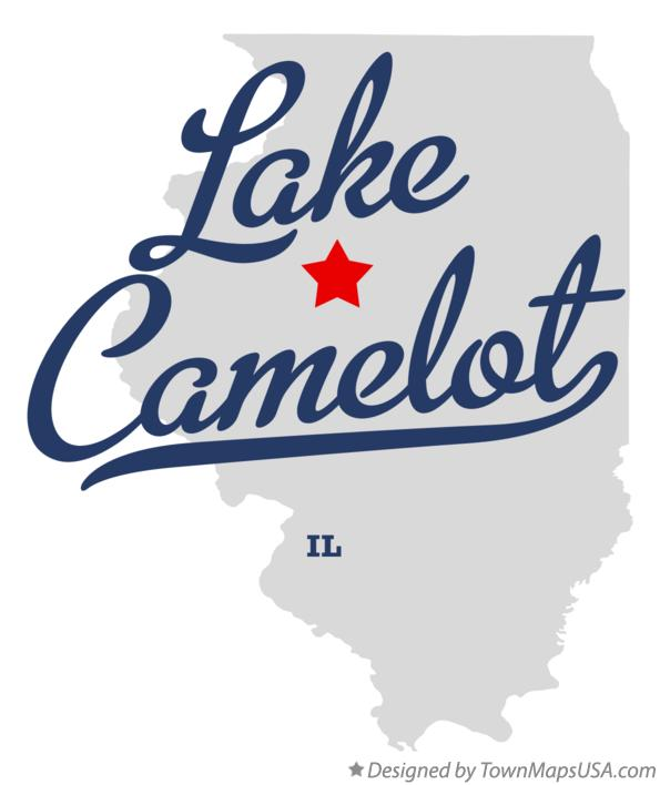 Map of Lake Camelot Illinois IL